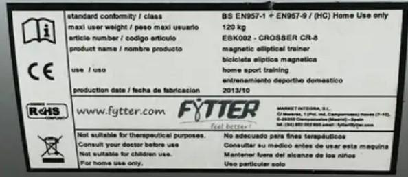 codigo producto fytter